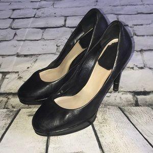Christian Dior Black Leather Platform Pumps Heels